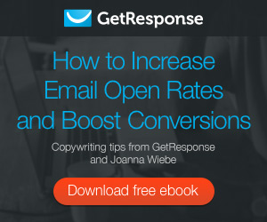 Exclusive e-book by GetResponse and Joanna Wiebe